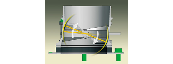 Diagram of Spherical Bore Throttle Body